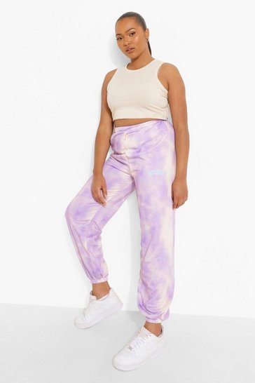 Lilac purple Purple Plus Tie Dye Staycation Joggers