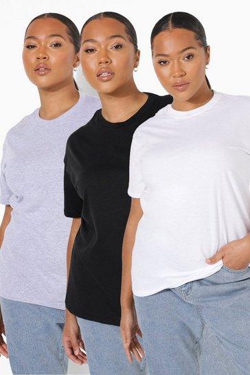 Black Plus 3 Pack T-shirt