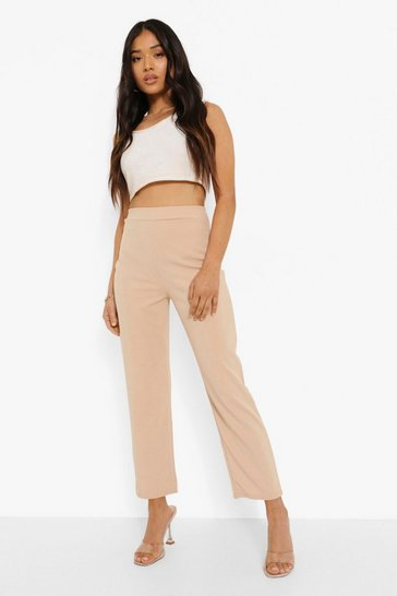 Stone beige Petite Tailored Trousers