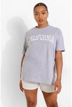 Grey Plus California Graphic T-Shirt