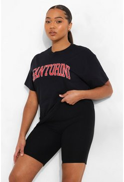 Black Plus Oversized Santorini T-Shirt