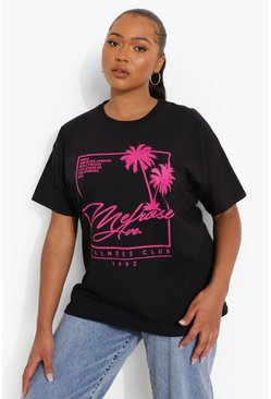 Plus Melrose Ave Graphic T-shirt, Black negro