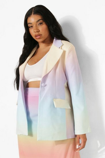 Multi Plus Ombre Tailored Blazer