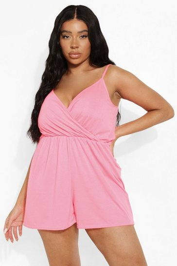 Neon-pink pink Plus Neon Flippy Playsuit