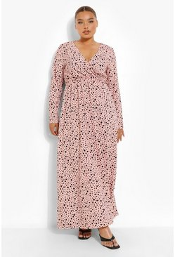 Nude Plus Spot Print Maxi Dress