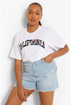 White Plus California Butterfly Oversized T-shirt