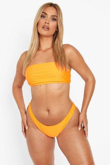 Orange Plus Recycled Bandeau Bikini Top