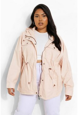 Grande taille - Trench imperméable, Blush rose