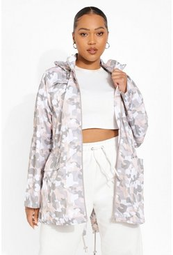 Grande taille - Trench camouflage, Pink rose