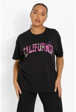 Black Plus California Butterfly Oversized T-shirt