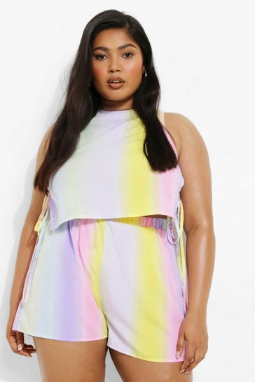 Multi Plus Ombre Floaty Shorts