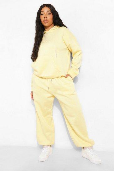 Lemon yellow Yellow Plus Basic Oversized Jogger