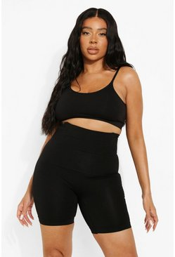 Black Plus Smoothing Control Shorts