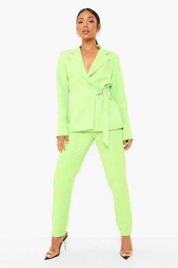 Lime green Petite Neon Slim Fit Tailored Trouser