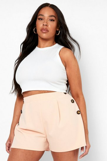 Nude Plus Button Down Tailored Flippy Short