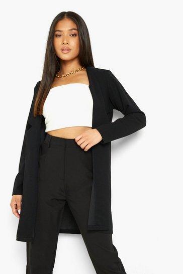 Black Petite Longline Blazer