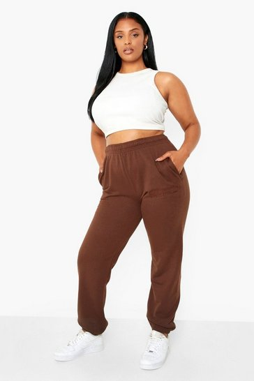Chocolate brown Plus Dsgn Studio Embroidered Joggers