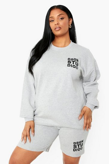 Grey Plus Dsgn Studio Embroidered Sweatshirt