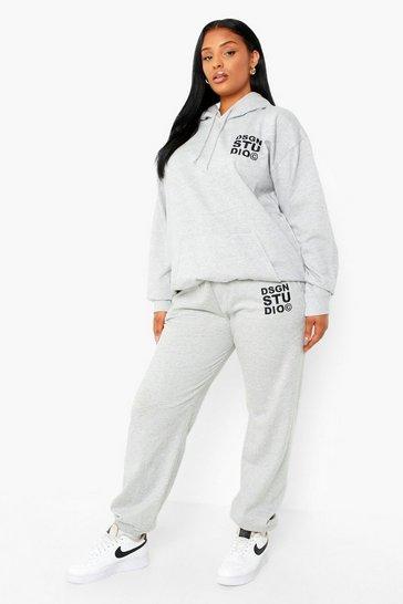Grey Plus Dsgn Studio Embroidered Joggers