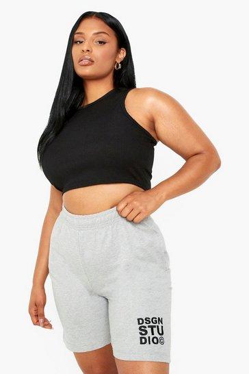 Grey Plus Dsgn Studio Embroidered Shorts