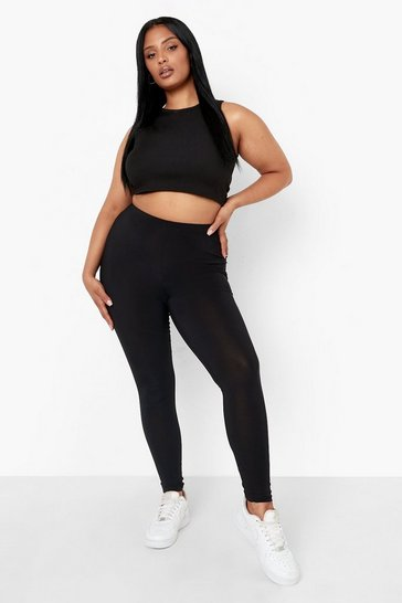 Black Plus Ruched Bum Booty Boosting Gym Leggings