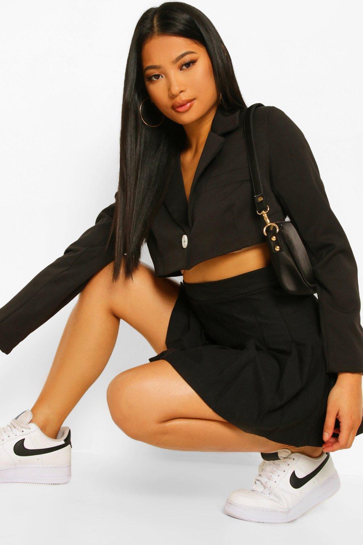 Petite Clothing Petite Woven Cropped Blazer