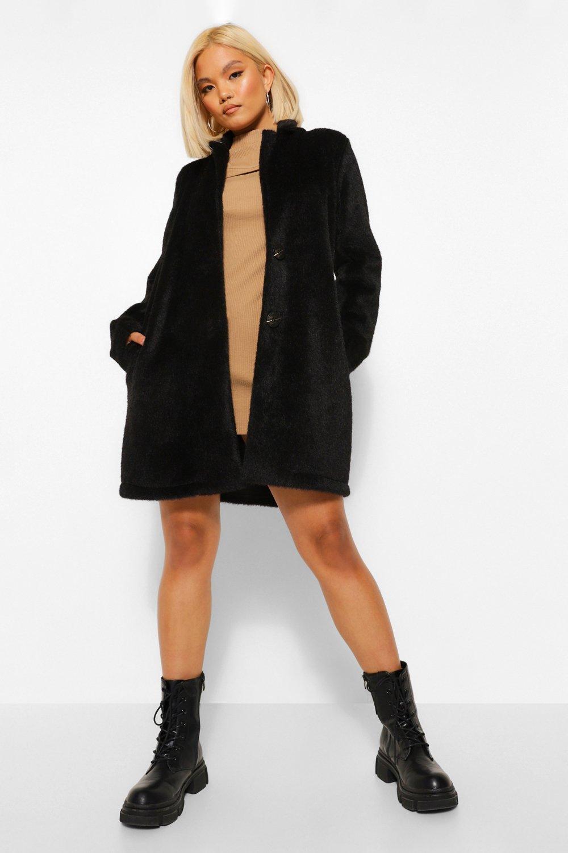 COATS & JACKETS Petite Brushed Wool Look Coat