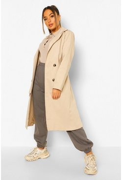 Stone beige Petite Belted Trench Coat