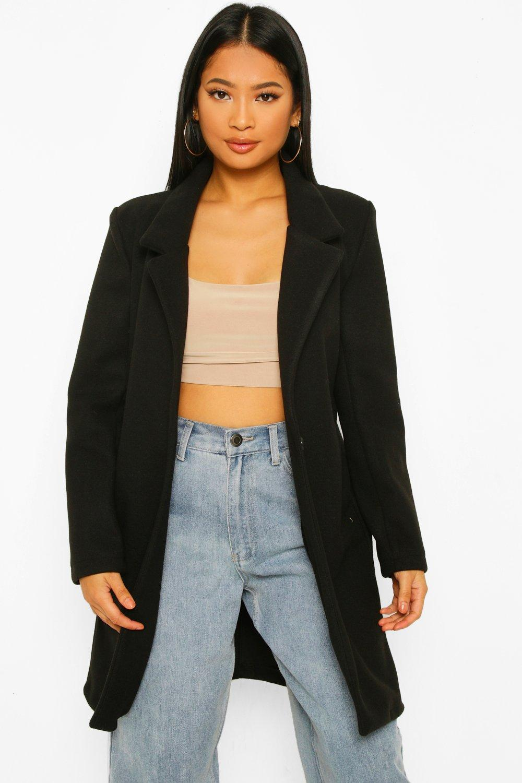 COATS & JACKETS Petite Button Front Wool Look Coat