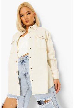 Ecru white Petite Denim Twill Jacket