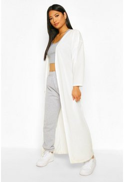 Ecru white Petite Super Soft Oversized Rib Maxi Cardigan