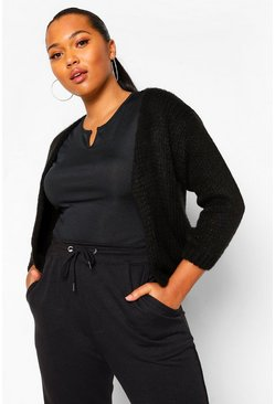 Black Plus Supersoft Cardigan