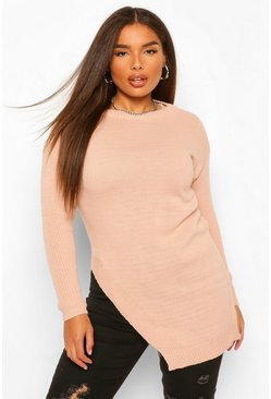 Blush pink Plus Side Split Jumper