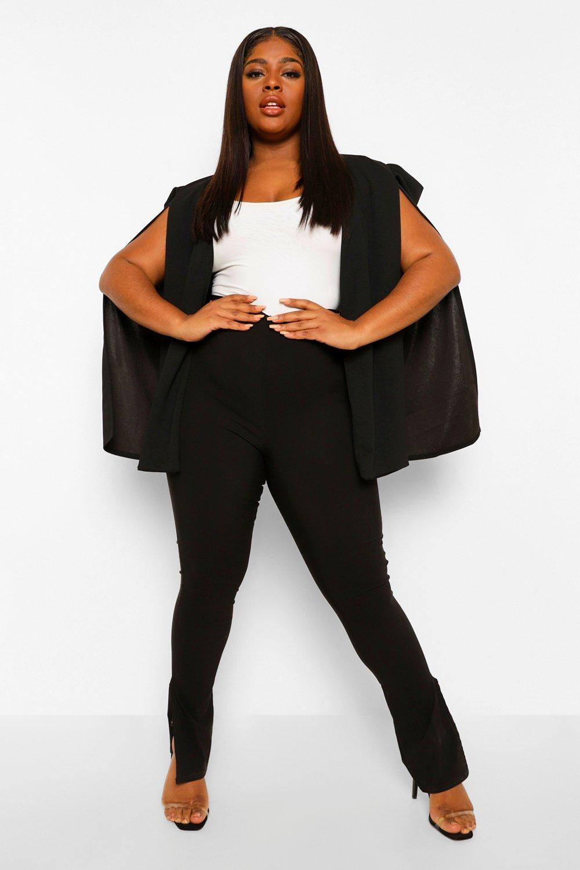 Plus Size Clothing Plus Longline Tailored Crepe Cape