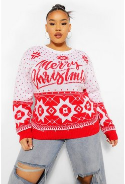 Red Plus Christmas Fairisle Jumper