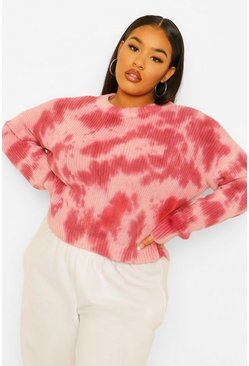 Stone Plus Tie Dye Knitted Jumper
