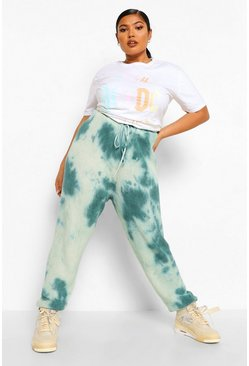 Green Plus Tie Dye Knitted Lounge Jogger