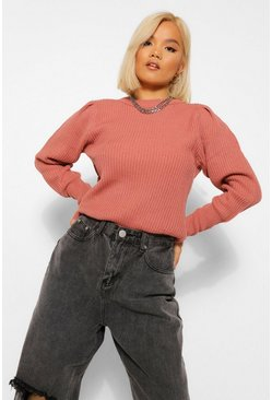 Rose Petite Crew Neck Knitted Jumper