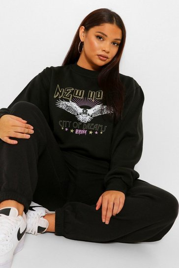 Black Plus New York Band Sweatshirt