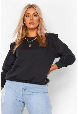 Black Plus Shoulder Pad Sweat