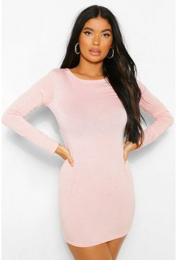 Baby pink pink Petite Glitter Bodycon Dress