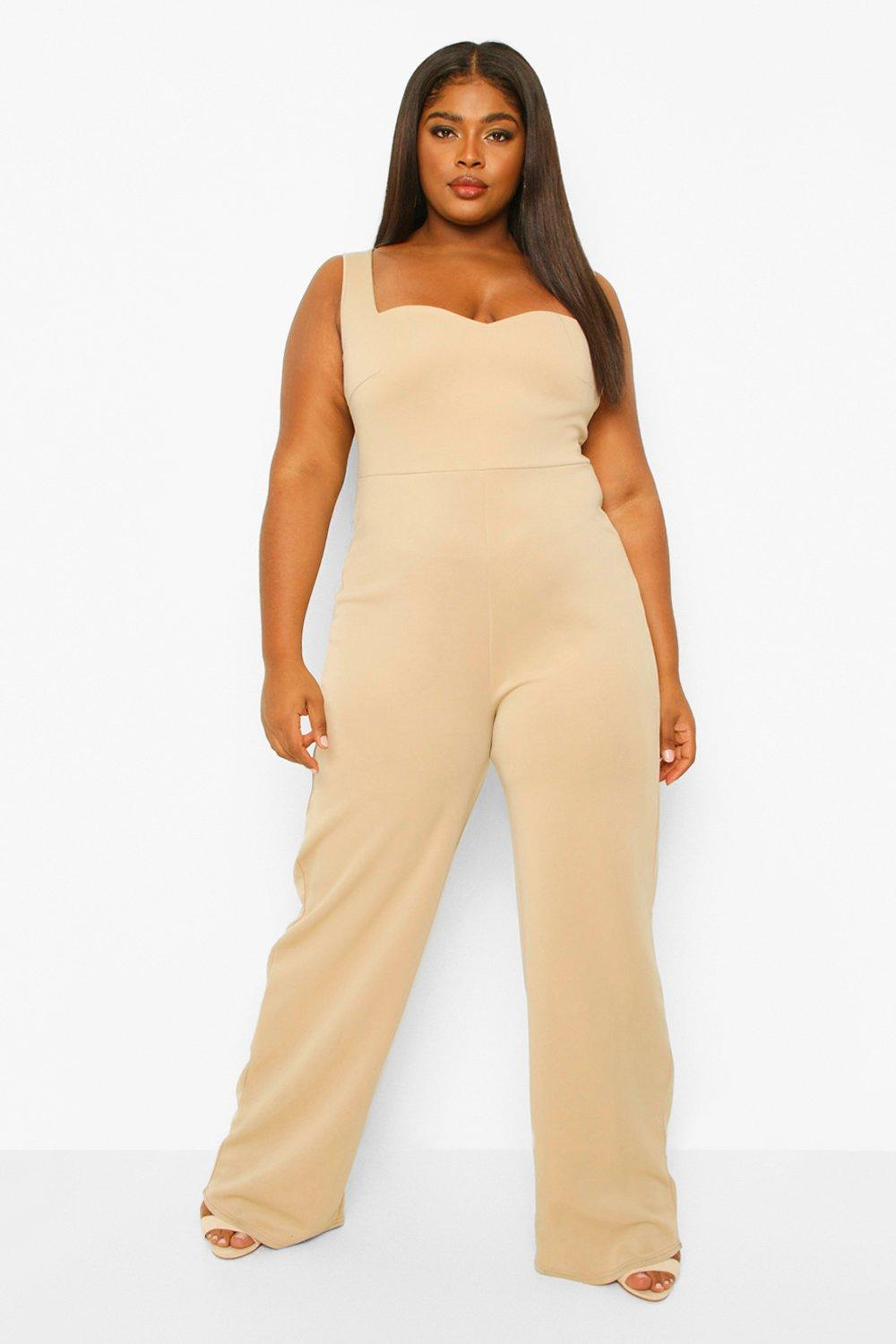 Plus Sweetheart Belted Wide Leg Jumpsuit 8