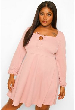 Blush Plus Sweetheart Keyhole Skater Dress