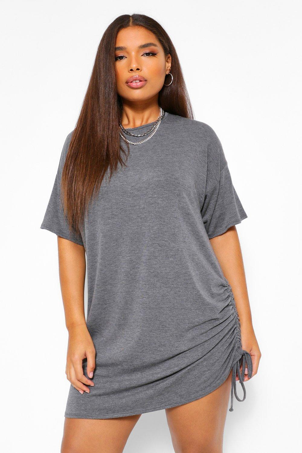 Plus Jersey Side Ruched T-Shirt Dress 18