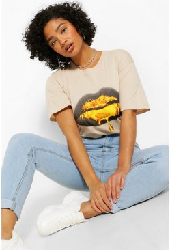 Sand Plus Metallic Lips T-shirt