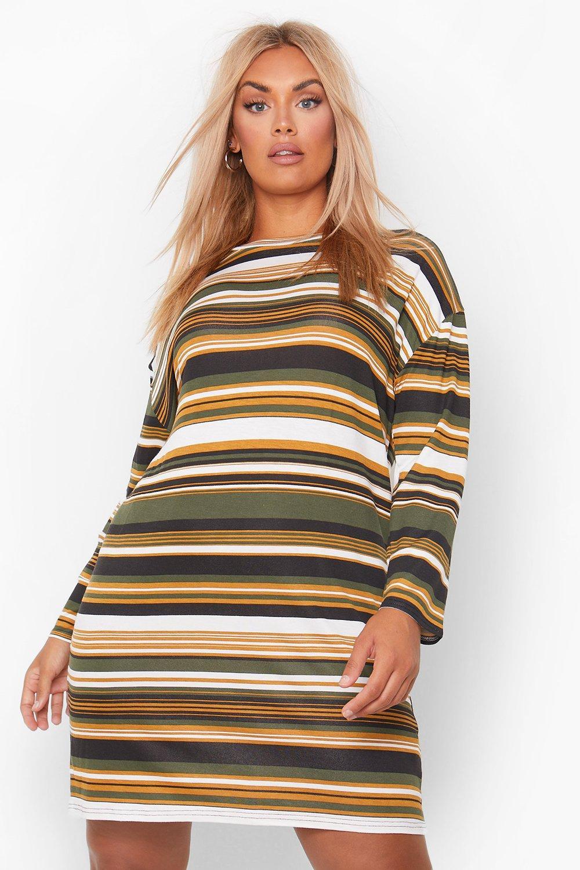Plus Stripe Oversized T-Shirt Dress 8