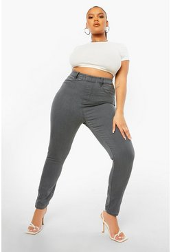 Grey Plus High Rise Jegging