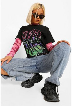 Black Petite Halloween 'Kiss' Band T-Shirt