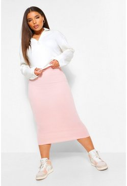 Nude Plus Fitted Midaxi Skirt