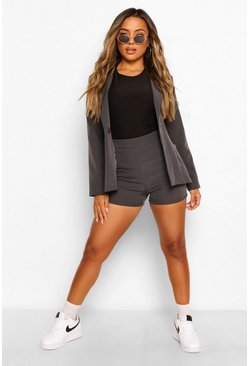 Slate grey Petite Tailored Shorts